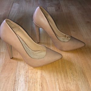 Nude Pointy Toe Court shoes